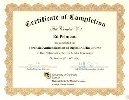 forensic expert certifications and training forensic authentication of digital audio certificate