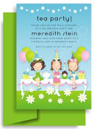Kids Invitations 8 Best Tea Party Invitations For Kids Birthday Images Tea Party