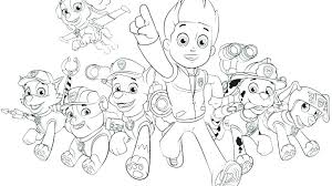 Skye Paw Patrol Coloring Sheets Pictures To Colour Rubble Page Chase
