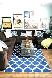 blue pillows on brown couch blue pillows brown couch for on charming rug designs yellow blue