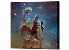 >space pillars of creation hubble telescope canvas wall art print  image is loading space pillars of creation hubble telescope canvas wall