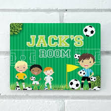 personalized door plaques front signs football customised uk swinging personalised clever welcom personalized bedroom door signs
