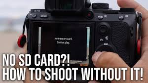 A9 Card How To Shoot Without An Sd Card Sony A7iii A7riii A9 Hack Youtube