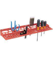 wall mount tool rack in tool storage