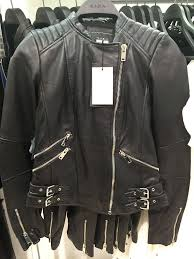 all size nwt zara real leather biker jacket with zips coat blazer padded quilt