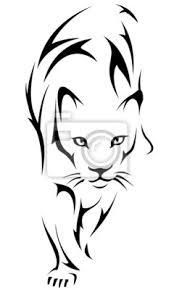 Obraz Tygr Tetování