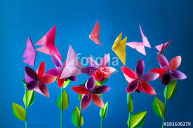 Origami Paper Flowers Butterflies Clouds And Sun Paper Art Craft