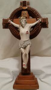 Arthur Sauve, Maxville, Ontario. Carved and painted Crucifix ...