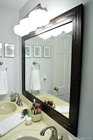 silver framed bathroom mirrors. Modren Mirrors Framed Bathroom Mirror Mad In Crafts Mirrors Thumb  Home Depot Ideas Large Silver  Throughout