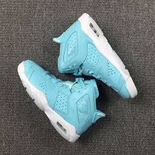 air jordan shoes for girls. cheap girls air jordans 6 retro grade school pantone still blue-white 2017-4 jordan shoes for