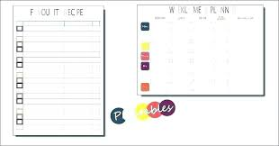 Meal Budget Planner Printable Our Family Daily Schedule Template Family Schedule