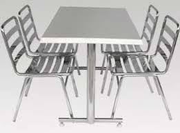 ... Stainless Steel Table And Chairs Great With Photos Of Stainless Steel  Minimalist At ...