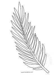 Branch Template Palm Sunday Coloring Page Palm Branch Template Easter Template