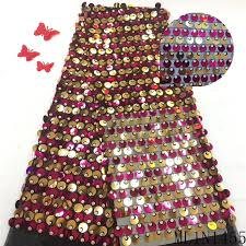 <b>BEAUTIFICAL</b> African <b>Sequins</b> Lace <b>Tulle</b> Fabrics Party Dress ...