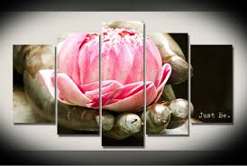 hd print 5 pcs buddha lotus flower canvas wall art painting art picture home decor canvas on lotus flower canvas wall art with hd print 5 pcs buddha lotus flower canvas wall art painting art