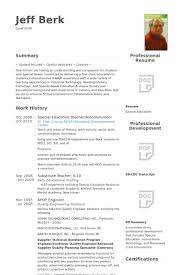 Special Education Teacher Resume Samples - Visualcv Resume Samples ...