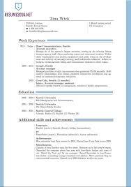 Most Current Resume Format Rome Fontanacountryinn Com