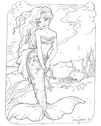Free Mermaid Printable Coloring Pages