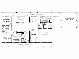 Eplans Ranch House Plan  Single Story Southern Beauty  2492 Single Level House Plans