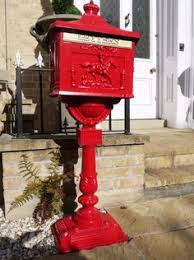 exterior mailboxes uk. free standing outdoor aluminium post letter mail box (red): amazon.co. exterior mailboxes uk i