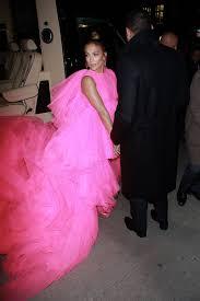jennifer lopez s hot pink dress at the second act premiere 2018 popsugar fashion