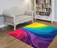 rugs beautiful rainbow rug for home reading room flooring idea