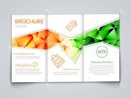 White Brochure Tri Fold Modern Brochure Design Template With Trendy Polygonal