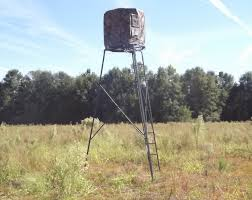 two man chair hunting blind new ameristep 15 foot deer stand hunting tripod photograph