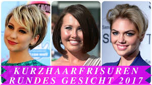 Kurzhaarfrisuren Rundes Gesicht 2017 Youtube