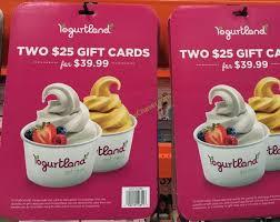 costco 1012851 yogurland gift card