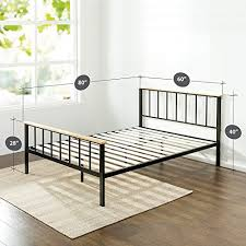 zinus metal and wood platform bed. Perfect Bed Zinus Contemporary Metal And Wood Platform Bed With Slat Support Queen On And A