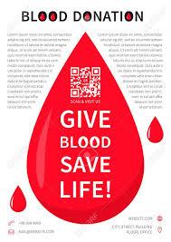 Informational Poster Sample Layout Blood Donation Poster Vector Template Blood Donation Banner