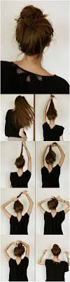 everyday hairstyles tutorials cal messy bun hairstyle