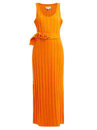Harlow Ribbed Cotton Midi Dress Mara Hoffman