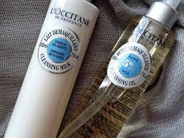 l occitane shea er cleansing oil and cleansing milk review photos