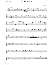 Choose from a wide selection of pieces for solo violin, violin with piano accompaniment, violin with orchestral accompaniment, trios, quartets or quintets. Soy Marco Solo Violin Sheet Music By Alberto Iglesias Nkoda