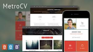 Metrocv Onepage Resume Portfolio Wordpress Theme Youtube