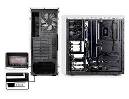 deepcool tasseract sw mid tower case side window includes blue maximum space capacity management