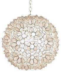 20 diameter capiz shell lotus pendant