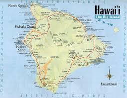 detailed map of big island of hawaii with roads  vidianicom