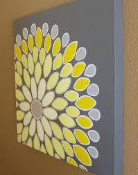 yellow wall decor nice wall art yellow yellow and gray