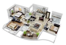 3 bedroom home design plans magnificent apartment house 26