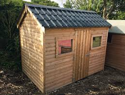 22 10x6 barrelboard cottage style shed tile effect steel roof