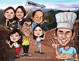 gift ideas of farewell caricature