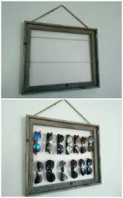 sunglass holder for wall es made from window shutter home decor and diy sunglass holder