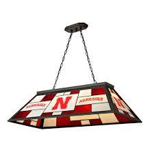 Coors Light Billiard Light Nebraska Cornhuskers Ncaa 40 Inch Tiffany Billiards Lamp