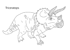Small Picture Triceratops dinosaur coloring pages for kids printable free