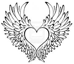 Heart With Wings Free Coloring Pages On Art Coloring Pages
