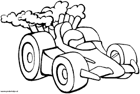 Kleurplaten Race Auto S