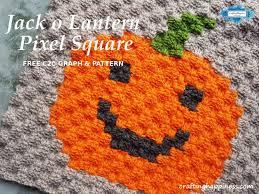 Crochet Pricing Chart Jack O Lantern C2c Pixel Square Free Pattern Crafting